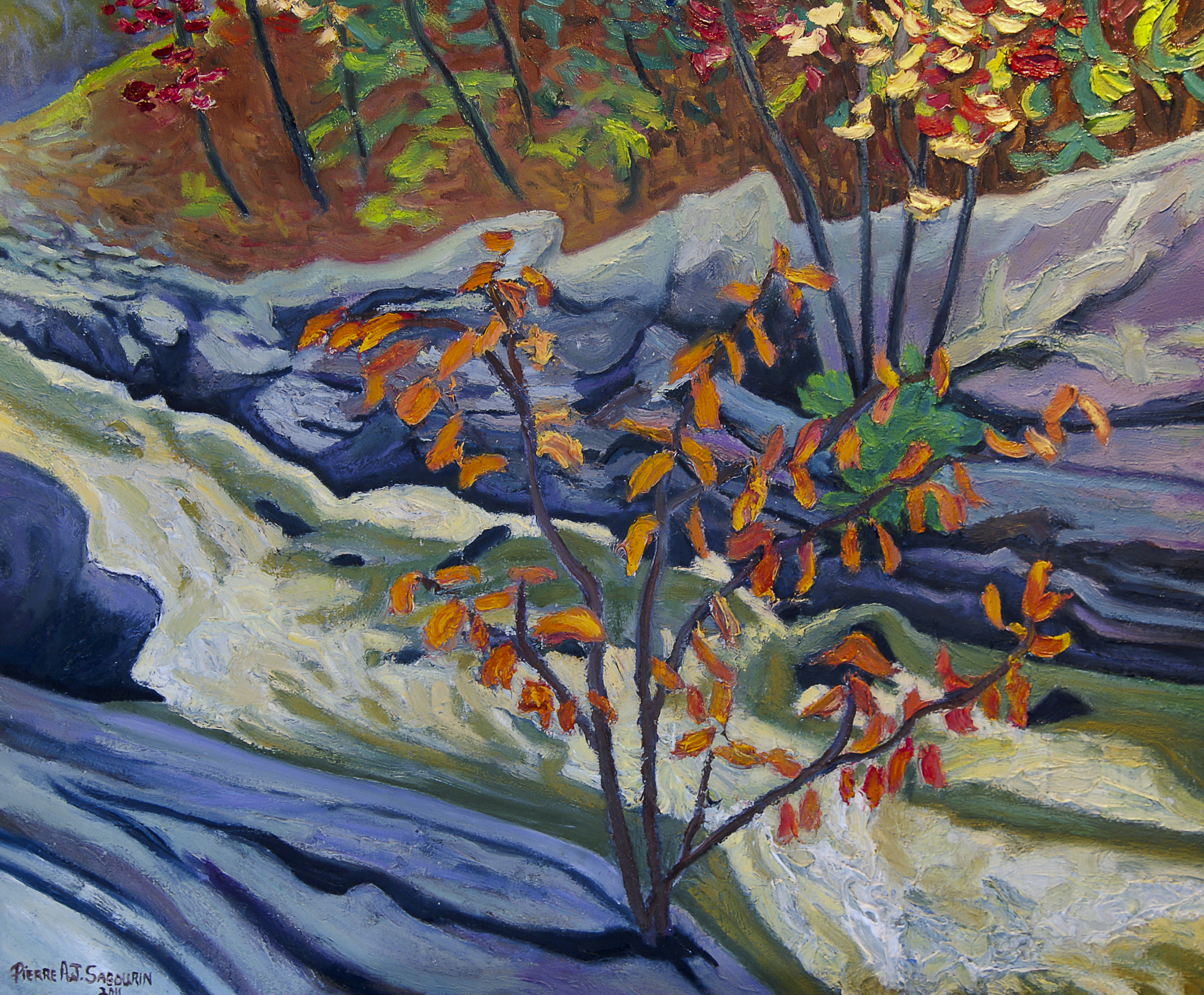 Knoefli Falls, Magnetawan River (Hope Whispered) by Pierre AJ Sabourin