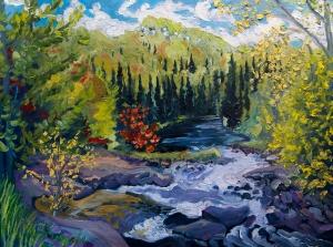 Thompson Rapids, Magnetawan River by Pierre AJ Sabourin