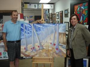 George Maroosis & Pierre AJ Sabourin at the KBros Maroosis Art Centre in North Bay