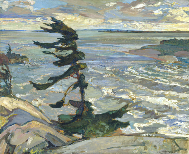 Reproduction of the painting Stormy Weather, Georgian Bay (FH Varley).