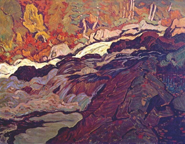 Batchewana Rapid (painting by JEH MacDonald).