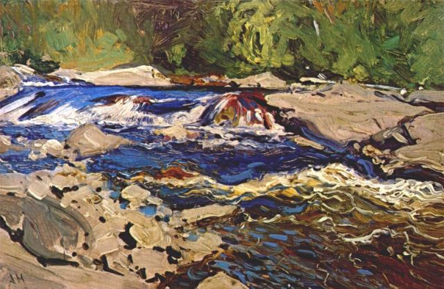 Thomson's Rapids, Magnetawan River by JEH MacDonald