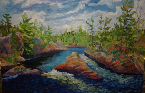 Land of the Voyageur 48 x 72 oil on Canvas en plein air