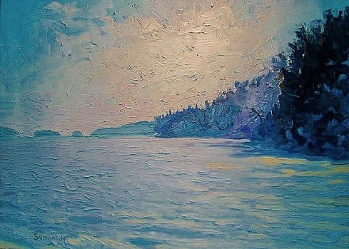 Winter heralds Spring 36 x 48 oil on canvas en plein air r