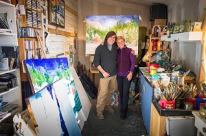 Friend and Patron Valerie Hickey at Sunset Rock Studio