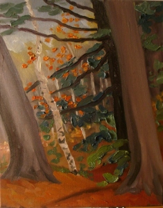 In a Netted Universe Wing Spread is Peril. Killarney Park. Oil on canvas. Farring Canada collection.