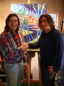 Ron Smid welcomes Pierre AJ Sabourin to the Ron Smid Canadian Collection Gallery of Whistler British Columbia, Canada