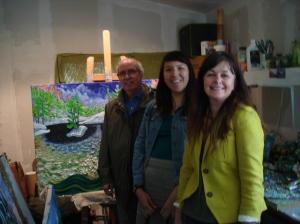 Art Gallery Of Sudbury Curator Tom Smart, Assistant to the Curator Deanna (Summer Cloud) Nebenionquit and Director of Education Nancy Gareh Sunset Rock Studio Killarney