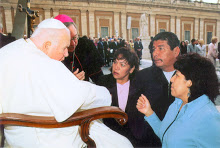 Pope John Paul II and James Simon Mishibinijima